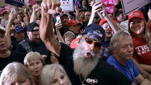 Through thick and thin: Trump supporters in Tampa. During the 2016 election, 57pc of white Americans voted for the Republican candidate