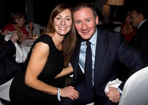 Dublins  Manager Jim Gavin with his Wife Jennifer  at the Winners Banquet in The Gibson Hotel