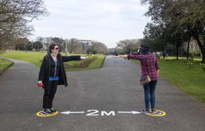 Practicing social distancing in the Phoenix Park yesterday