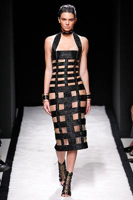 Kendall Jenner walks the runway during the Balmain Ready to Wear show as part of the Paris Fashion Week Womenswear Spring/Summer 2015