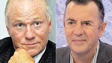 Lone Star boss and Irish passport-holder John Grayken (left) bought loans linked to businessman Duncan Bannatyne (right)