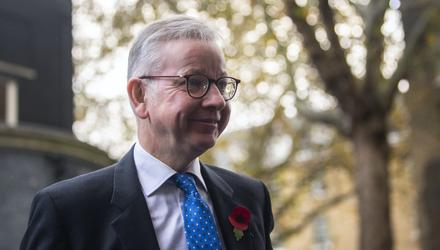 British Cabinet Office Minister Michael Gove. Photo: PA