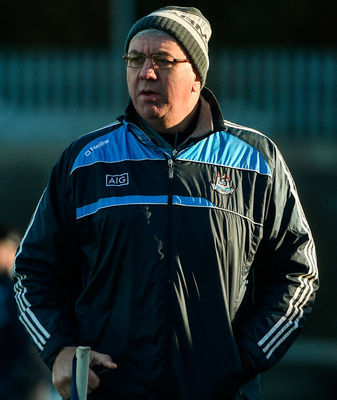 Dublin manager Ger Cunningham during the Hurling Challenge game. Photo: David Maher/Sportsfile