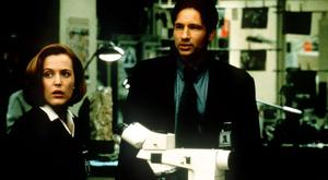 Gillian Anderson and David Duchovny in The X-Files