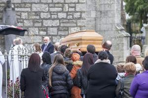 Friday 09 January 2015. St. Mary's Church, Bennekerry Church, Co. Carlow. Funeral of Chermaine Carroll.