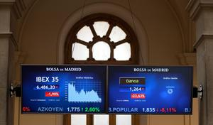 An information panel displays Bankia and IBEX 35 trading