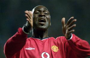 Andy Cole in his playing days with Manchester United