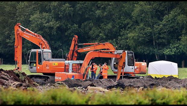 The scene  where the human remains were found Coghalstown in Co Meath. Pic Steve Humphreys 25th June 2015.