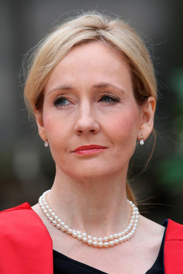 British author JK Rowling. Photo: David Cheskin/PA Wire