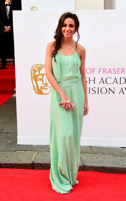 Michelle Keegan arrives for the House of Fraser British Academy of Television Awards at the Theatre Royal, Drury Lane in London. PRESS ASSOCIATION Photo. Picture date: Sunday May 10, 2015. See PA story SHOWBIZ Bafta. Photo credit should read: Ian West/PA Wire