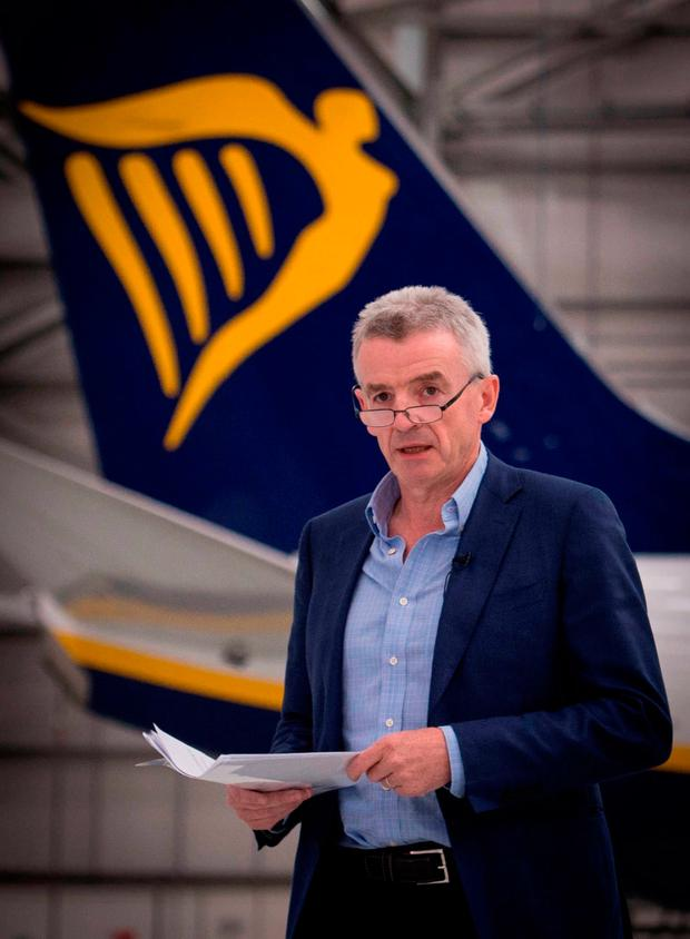 Outspoken: Ryanair chief executive Michael O'Leary called for more competition in business and less corporate tax at a Fine Gael business breakfast Photo: Stefan Rousseau/PA