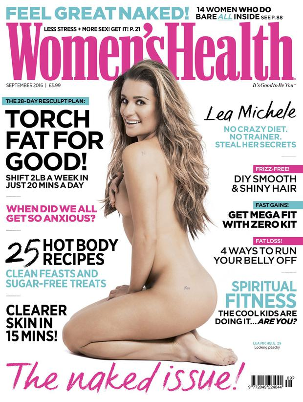 Lea Michele stuns on the cover of Women's Health.