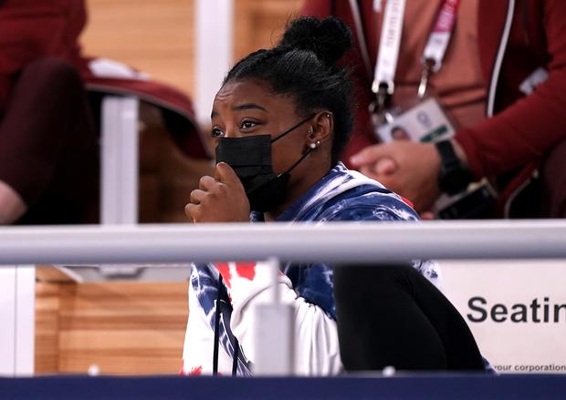 Simone Biles has been sidelined at the Olympics (Mike Egerton/PA)