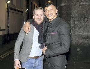 Love/Hate stars Ian Lloyd Anderson and Aaron Heffernan at The Olympia Theatre for Howie the Rookie
