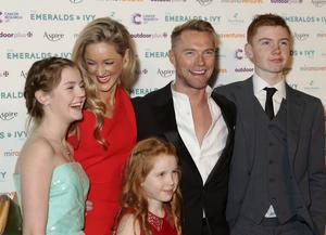 Ronan Keating and Storm Uechtritz with his children