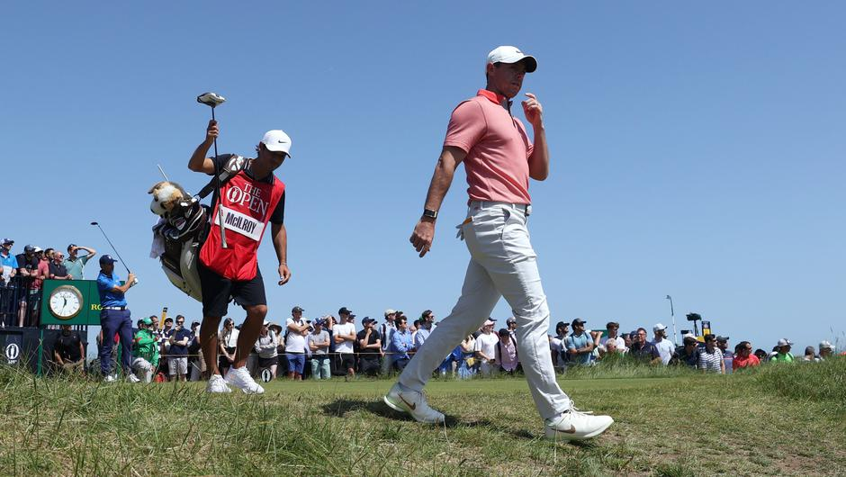 Rory McIlroy during the third round of the the 149th Open Championship at Royal St George's, Sandwich, Kent