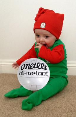 Aoibheann O'Beirne, aged 9 months, is a true Mayo supporter