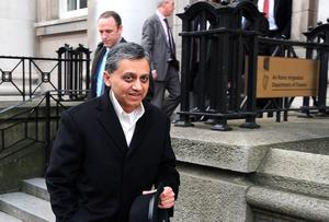 Ashoka Mody of the IMF outside the Department of Finance. Picture credit: Damien Eagers