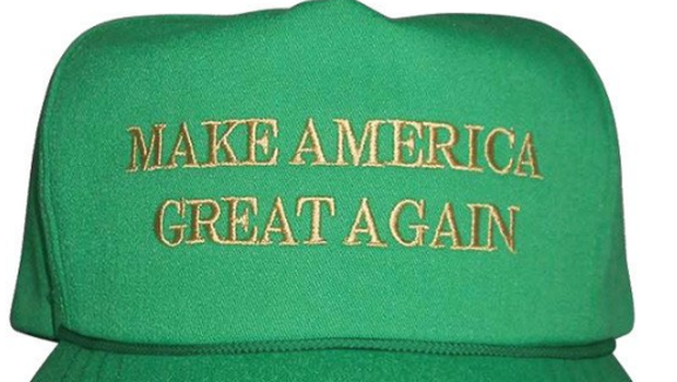 Trump's Make America Great Again hats... the St Patrick's Day edition
