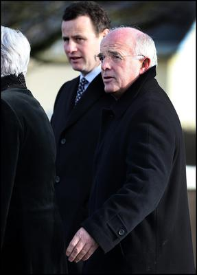 Trainer Ted Walsh attending the funeral mass of Lucy Anne Stack at St Ultans Church Rathcore, Enfield, Co Meath Pic Steve Humphreys