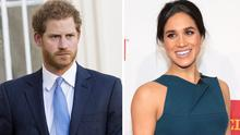 Prince Harry, left, Meghan Markle, right