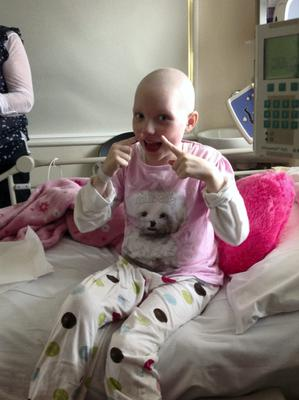 Pics of Grace Kenneally who has suffered a setback in her battle against Neuroblastoma.