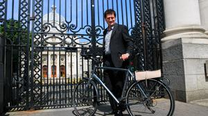 Green Party leader Eamon Ryan TD at Government buildings on Merrion Street Dublin Photo: Gareth Chaney/Collins