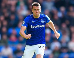 Everton's Seamus Coleman is looking forward to returning to action. Photo: Nathan Stirk/Getty Images