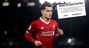Philippe Coutinho is wanted by Barcelona