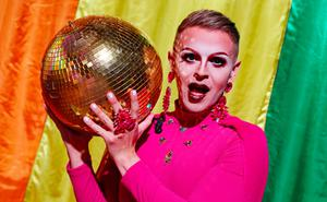 Having a ball: Paul Ryder co-hosts the Dublin Digital Pride festival from the Mansion House in Dublin. Photo: Niall Carson/PA Wire