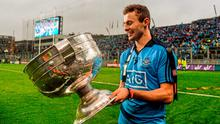 Jack McCaffrey, Dublin, with the Sam Maguire cup after the game. GAA Football All-Ireland Senior Championship Final, Dublin v Kerry, Croke Park, Dublin. Picture credit: Paul Mohan / SPORTSFILE