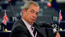 Nigel Farage suggested Irish people could want an EU exit. Photo: REUTERS