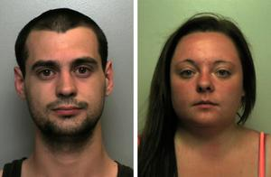 Luke Morgan and Emma Cole, the parents of nine-week-old Tyler Morgan Photo credit: Staffordshire Police/PA Wire
