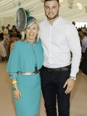 Breeda McLoughlin & Robbie Henshaw pictured at the 150th Dubai Duty Free Irish Derby at the Curragh Racecourse on Saturday 27th June. Photo Anthony Woods.
