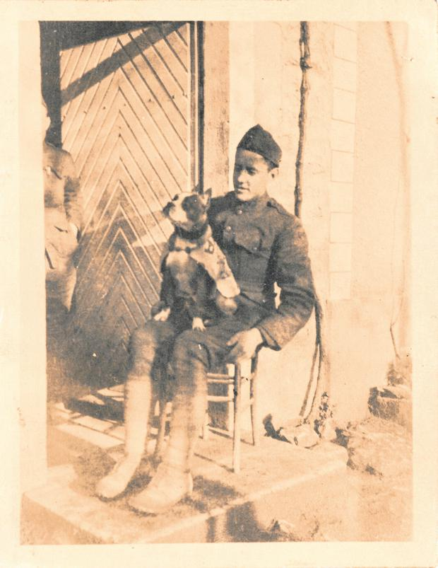 Corporal Robert Conroy smuggled the dog he named Stubby on board the USS Minnesota bound for France, a story that has been made into an animated movie