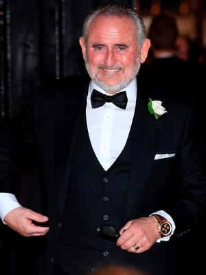 Father of the groom Frank Lampard, Sr. leaves after the wedding of Christine Bleakley and Frank Lampard at St Paul's Church in Knightsbridge, London