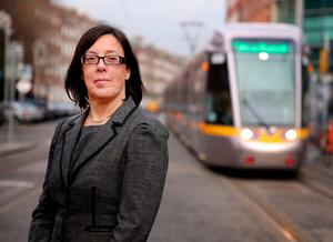 Anne Graham, chief executive of the National Transport Authority, at the Green Luas Line. Photo: Gerry Mooney