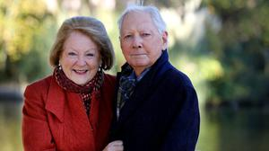 DEVOTED: Gay Byrne and wife Kathleen. Photo: David Conachy