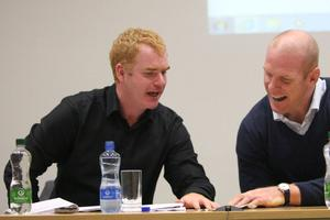 GOOD JOB: Jack Anderson (left) believes the GAA is following the right protocols to get back to play. Photo: Brian Arthur/ Press 22