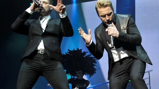 Keith Duffy and Ronan Keating of Boyzone