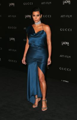 Kim Kardashian West attends the 2014 LACMA Art + Film Gala honoring Barbara Kruger and Quentin Tarantino presented by Gucci at LACMA