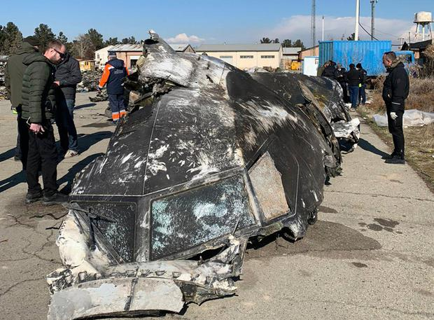 Pieces: Wreckage of the Ukraine International Airlines Boeing 737-800 at the scene of the crash in Shahedshahr, southwest of the capital Tehran, Iran. Photo: AP