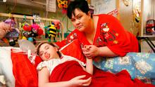 In need: Lynn Marie Walsh with daughter Jessica in Our Ladys Children's Hospital. Photo: Frank McGrath