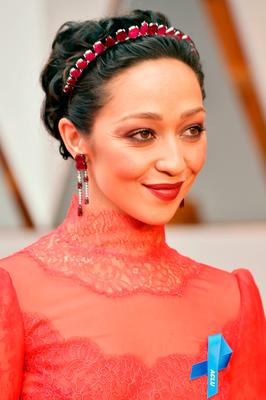Actor Ruth Negga attends the 89th Annual Academy Awards at Hollywood & Highland Center on February 26, 2017 in Hollywood, California.  (Photo by Frazer Harrison/Getty Images)