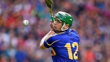 Tipperary's John O'Dwyer takes a late free with a chance to win the All-Ireland final at Croke Park, only to see it hit the post. Photo: Brendan Moran / SPORTSFILE