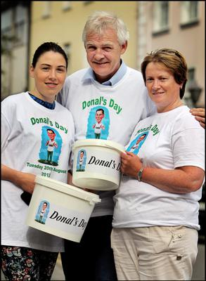 The family of the late Donal Walsh including his mum Elma, father Fionnbar and sister Jema fundraising on the streets of Tralee earlier today for a number of charities close to Donal's heart during 'Donal's Day' yesterday. Pic Steve Humphreys