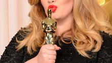 Singer Adele, winner of the Best Original Song award for 'Skyfall,' poses in the press room during the Oscars held at Loews Hollywood Hotel on February 24, 2013 in Hollywood, California.  (Photo by Jason Merritt/Getty Images)