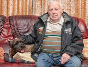 Trevor Derby (84) and his Cairn Terrier Archie