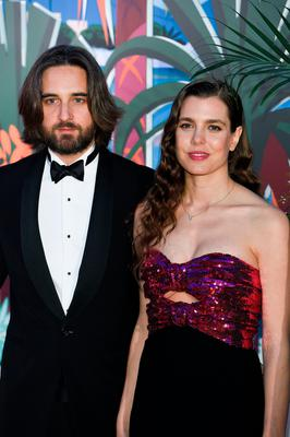 (L-R) Dimitri Rassam and Charlotte Casiraghi attend the Rose Ball 2019 to benefit the Princess Grace Foundation on March 30, 2019 in Monaco, Monaco. (Photo by PLS Pool/Getty Images)