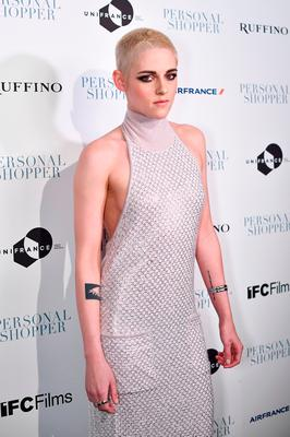 """Actress Kristen Stewart attends the """"Personal Shopper"""" premiere at Metrograph on March 9, 2017 in New York City.  (Photo by Dimitrios Kambouris/Getty Images)"""